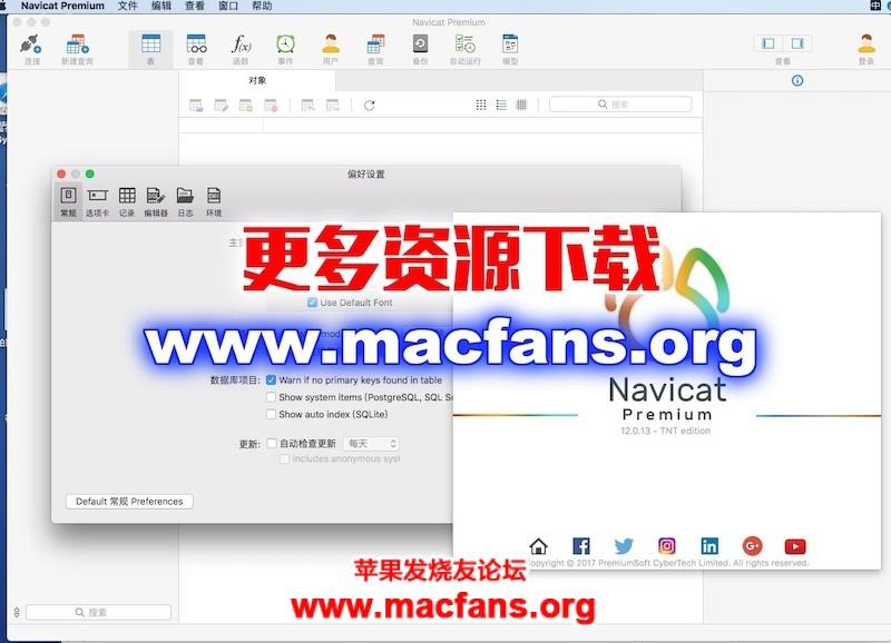 Navicat Premium 12.1.27 独家中文汉化破解版 Mac 强大的数据库客户端工具插图