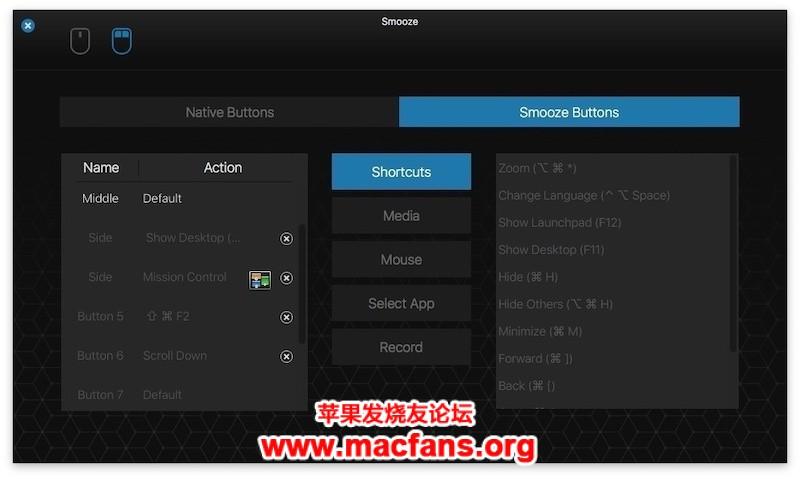 《Smooze 1.7.7 [TNT] 破解版 Mac 鼠标增强软件》