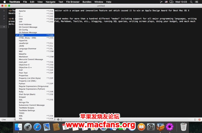 《TextMate 2.0 破解版 Mac 著名的文本编辑器软件》