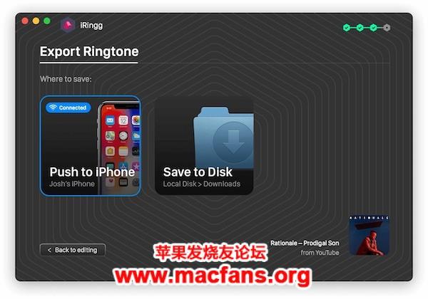 iRingg 1.0.42 破解版 macOS 史上最好用的 iPhone 铃声制作软件插图