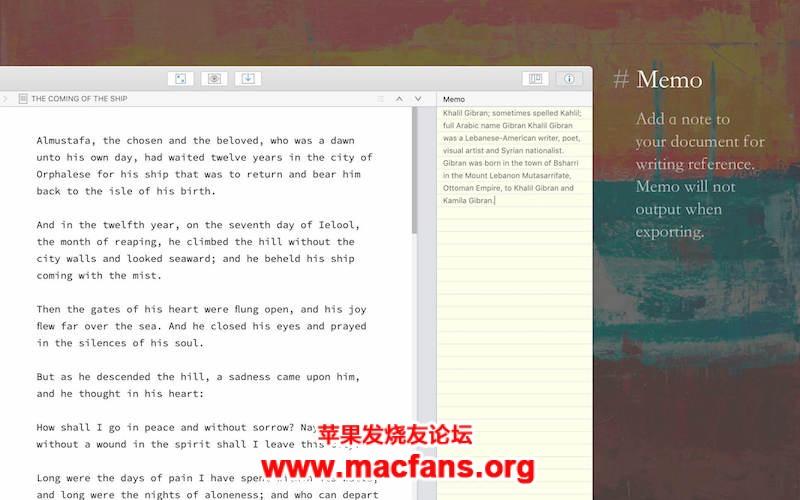 妙笔 WonderPen 1.7.1 中文破解版 Mac 写作软件插图