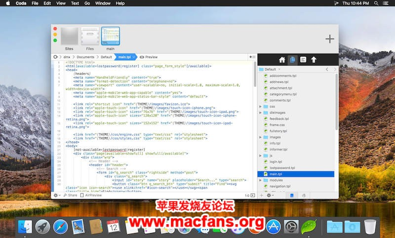 Coda 2.7.4 破解版 Mac专业的网页开发工具插图