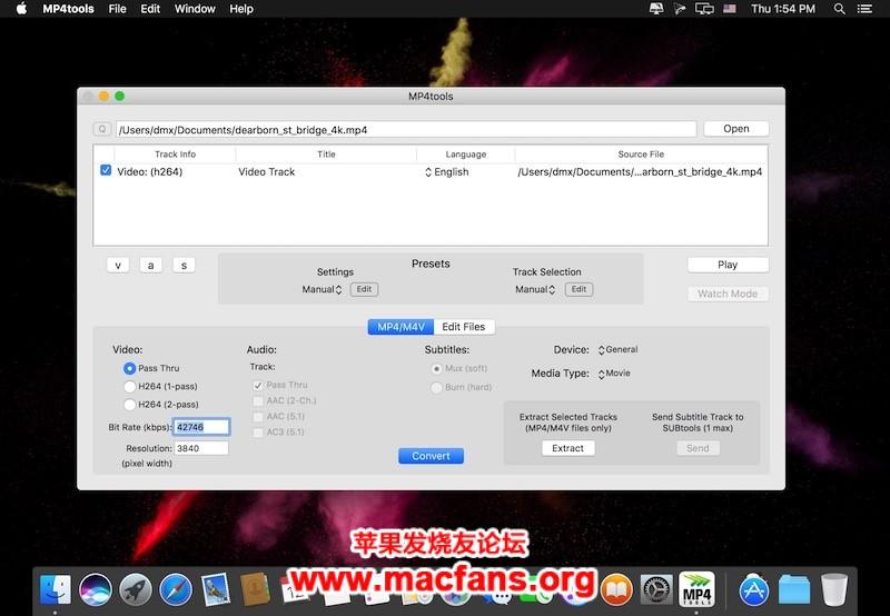 MP4tools 3.7.2 破解版 Mac 视频转换/分割/合并工具插图