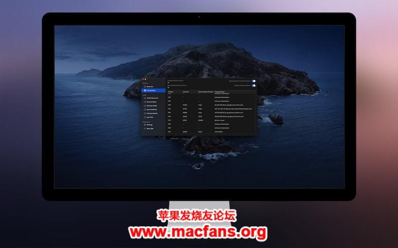 NetWorker Pro 6.1.0 破解版 Mac 菜单栏网速监测显示工具插图