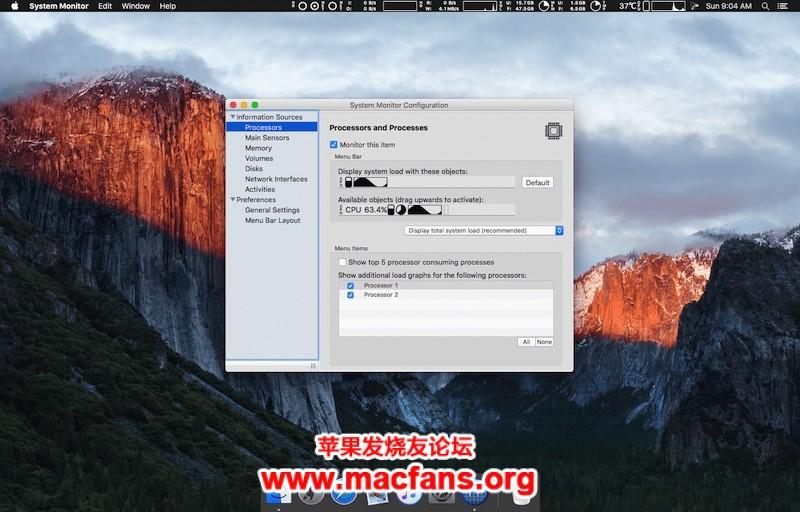 System Monitor 2.6 [TNT] 破解版 Mac 系统进程检测工具插图