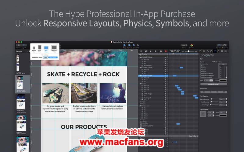 Hype Pro 4.0.2 中文破解版 Mac 强大的 HTML 5 动画制作软件插图